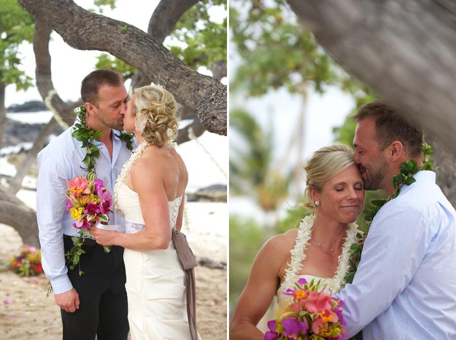 Simple Hawaii Beach Wedding For Two » Kona Hawaii Weddings