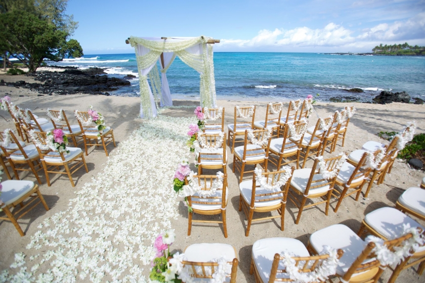 Kukio Beach Club Wedding Ceremony