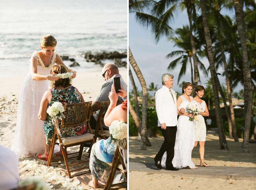Brown S Beach House Wedding Big Island